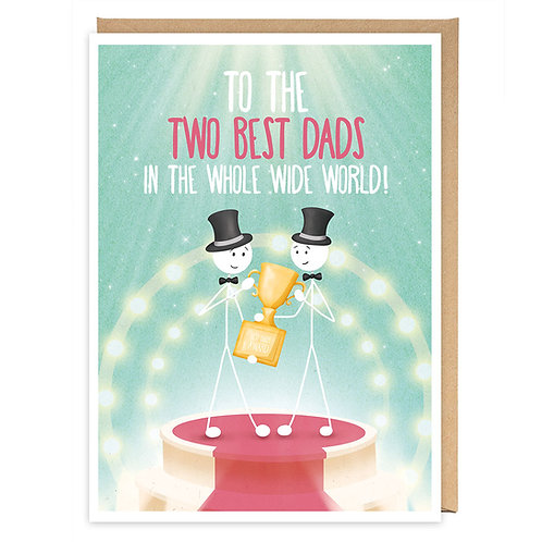 LGBT TWO BEST DADS GREETING CARD