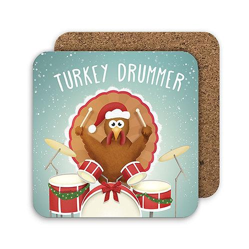 TURKEY DRUMMER set of 4 coasters - CC20