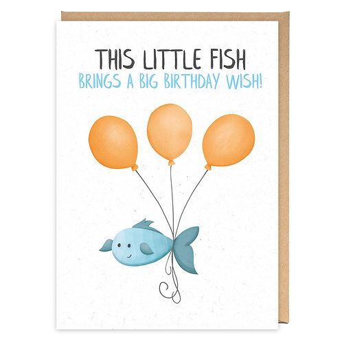 THIS LITTLE FISH greeting card - PE35