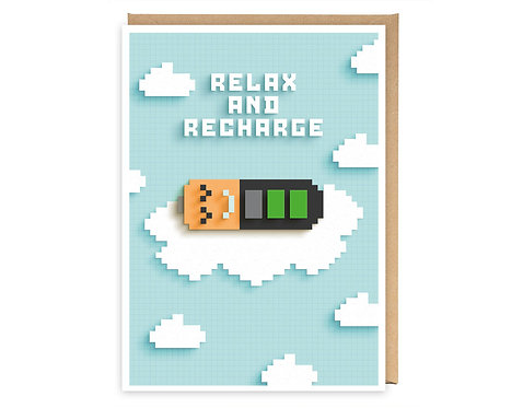 RELAX & RECHARGE greeting card - GB09