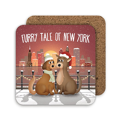 FURRY TALE set of 4 coasters - CC18