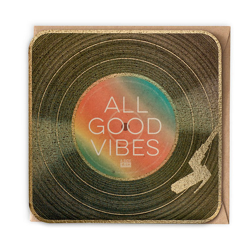 ALL GOOD VIBES GREETING CARD