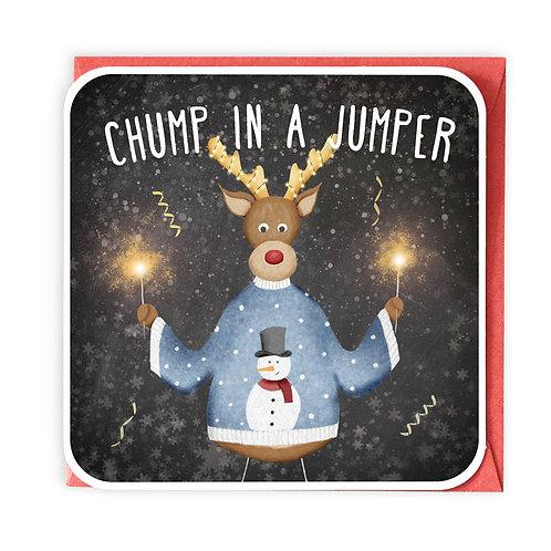 CHUMP IN A JUMPER greeting card - XS22
