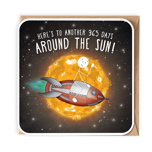 AROUND THE SUN GREETING CARD