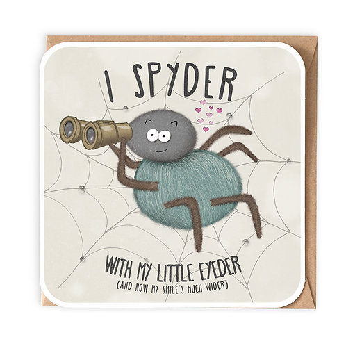 I SPYDER! greeting card - CT16