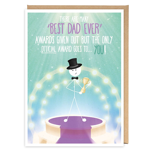OFFICIAL BEST DAD GREETING CARD