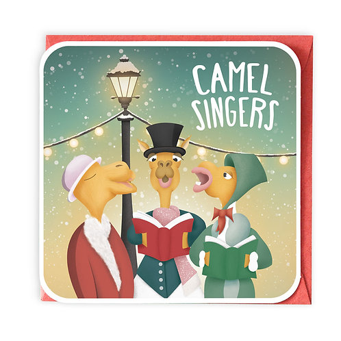 CAMEL SINGERS greeting card - XC01