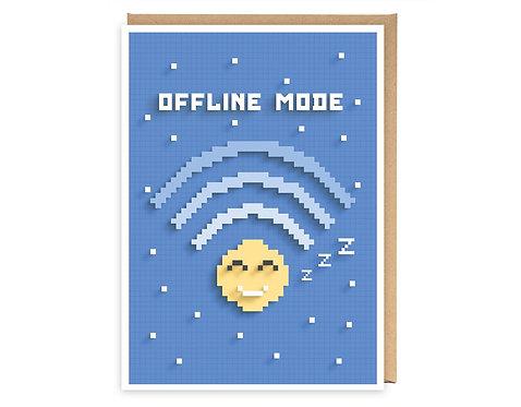 OFFLINE MODE greeting card - GB03