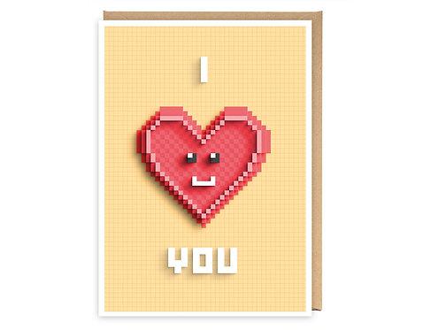 I LOVE YOU greeting card - GB08