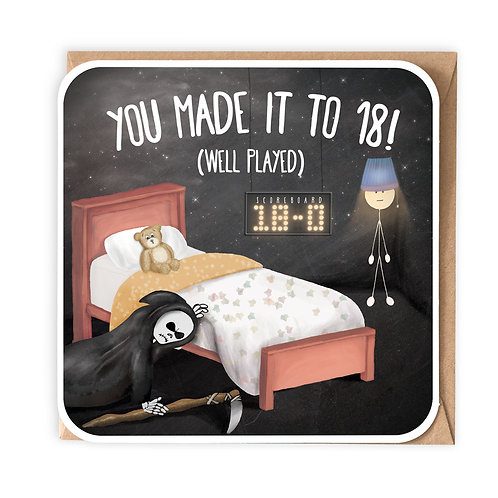 YOU MADE IT TO 18 greeting card - SM105