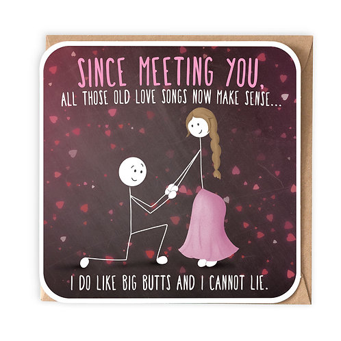 I DO LIKE BIG BUTTS greeting card - SM118