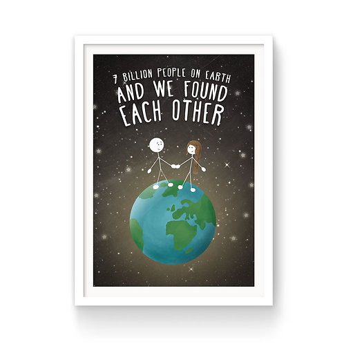WE FOUND EACH OTHER PRINT