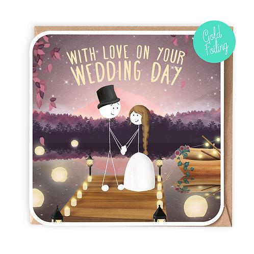 FOUR SEASONS 'SPRING' WEDDING GREETING CARD