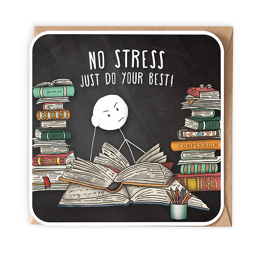 NO STRESS greeting card - SM53
