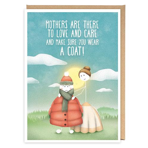 WEAR A COAT greeting card - WW09