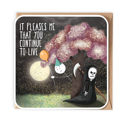 IT PLEASES ME GREETING CARD