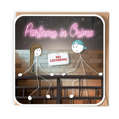 PARTNERS IN CRIME greeting card - SM103