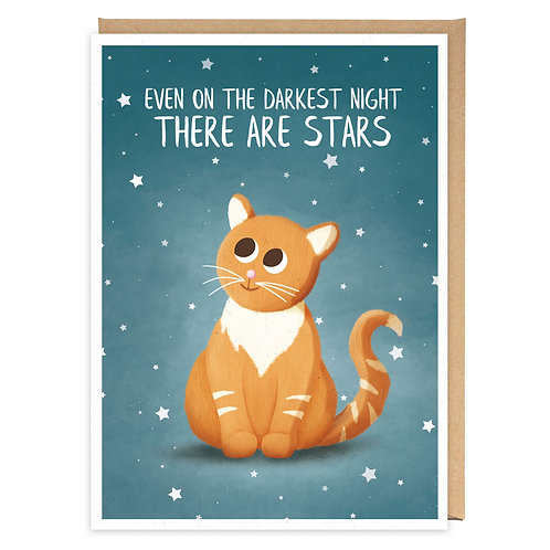 EVEN ON THE DARKEST NIGHT GREETING CARD