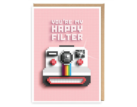 YOU'RE MY HAPPY FILTER greeting card - GB05