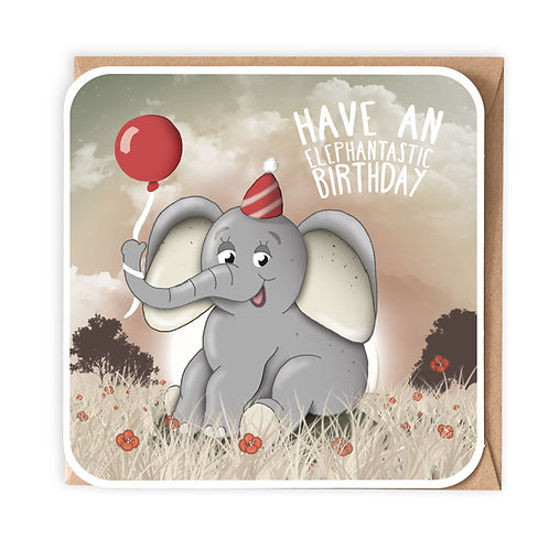 ELEPHANTASTIC greeting card - CT02