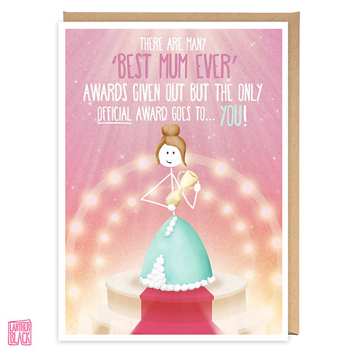OFFICIAL BEST MUM greeting card - WW15