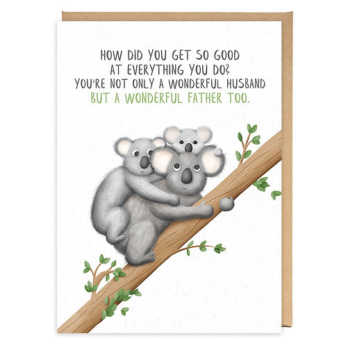 KOALA DAD greeting card - PE26