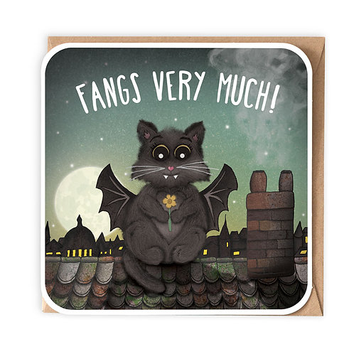 FANGS VERY MUCH greeting card - CT01