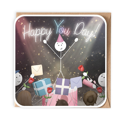 HAPPY YOU DAY greeting card - SM102
