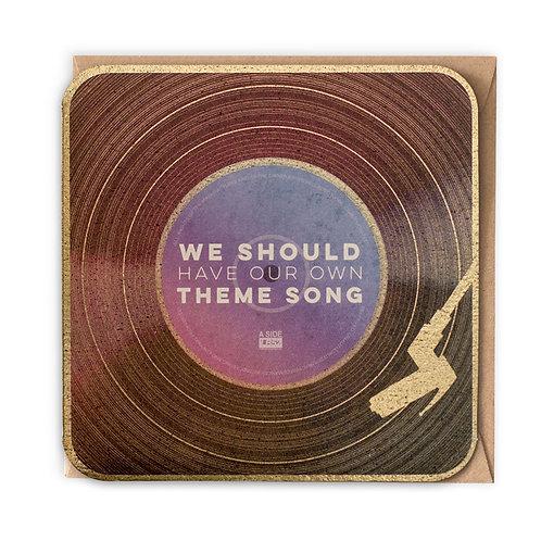 THEME SONG greeting card -VB07