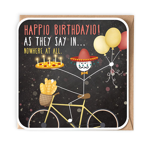 HAPPIO BIRTHDAYIO greeting card - SM94