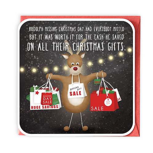 BOXING DAY CHRISTMAS GREETING CARD