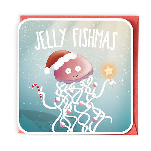 JELLY FISHMAS GREETING CARD