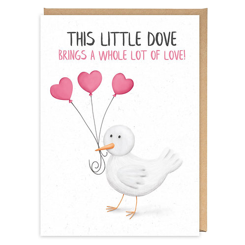 THIS LITTLE DOVE greeting card - PE34