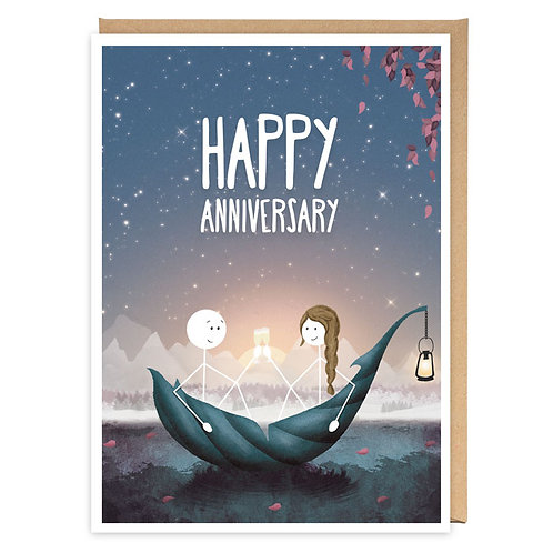 HAPPY ANNIVERSARY greeting card -WW07