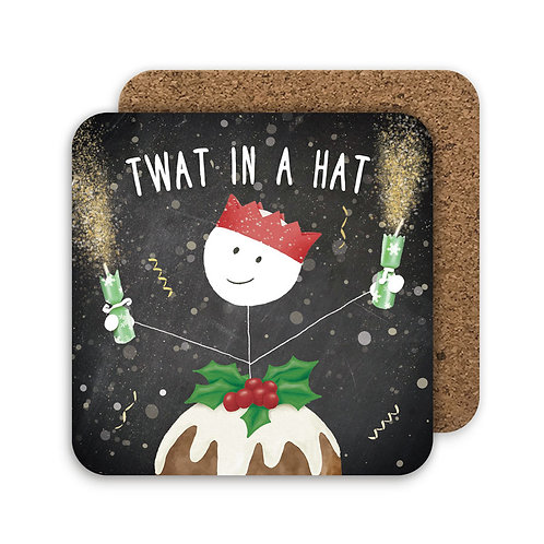 TWAT IN A HAT set of 4 coasters - CC12