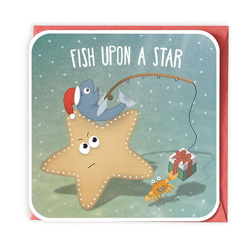 FISH UPON A STAR GREETING CARD