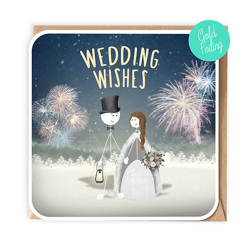 FOUR SEASONS 'WINTER' WEDDING GREETING CARD