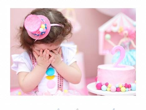 Ensaio de aniversário de 2 anos
