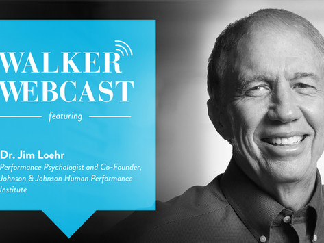 Leading With Character author Dr. Jim Loehr on the Walker Webcast
