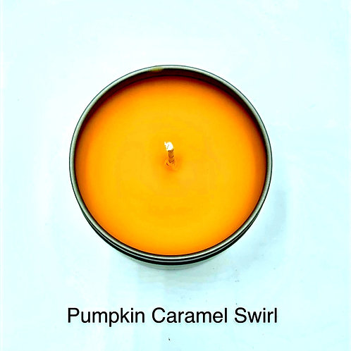 Pumpkin Caramel Swirl Hand Poured Soy Candle