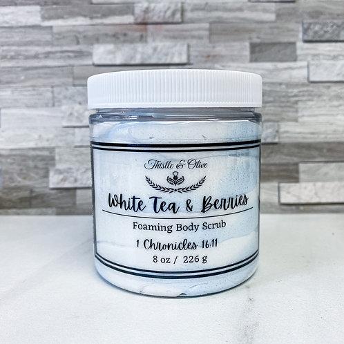 White Tea & Berries Foaming Body Scrub