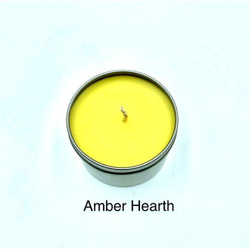 Amber Hearth Hand Poured Soy Candle