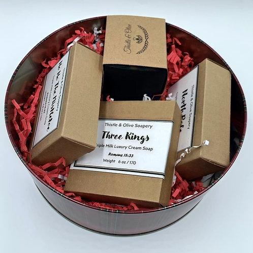 Christmas Soap Set Gift Tin