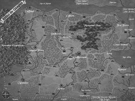Mapa do livro Grivus e novos mapas