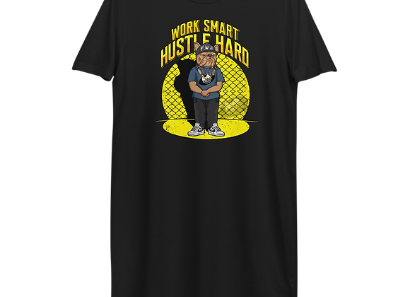 Classic BullyZ - Work Smart Hustle Hard |Organic Cotton T Dress