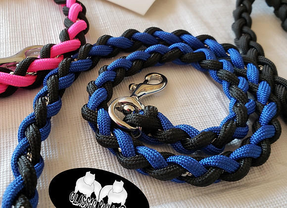 Classic ChainZ Chrome Filled Show Lead w/Charm/RibbonClip