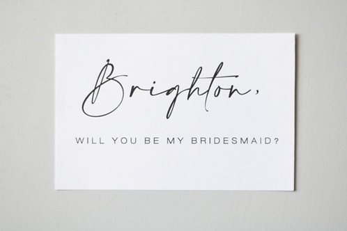 Download - Custom Bridesmaid Proposal Card