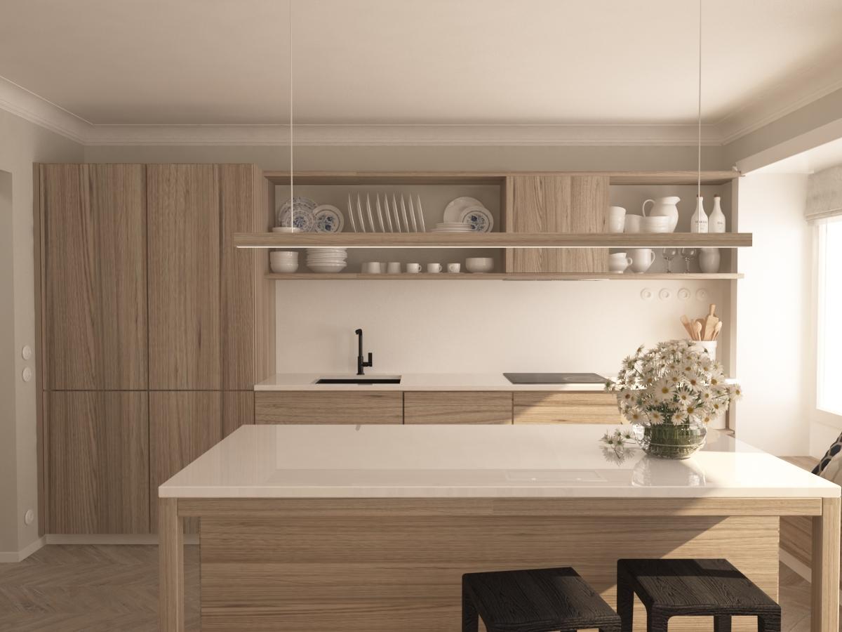 návrh kuchyně 1