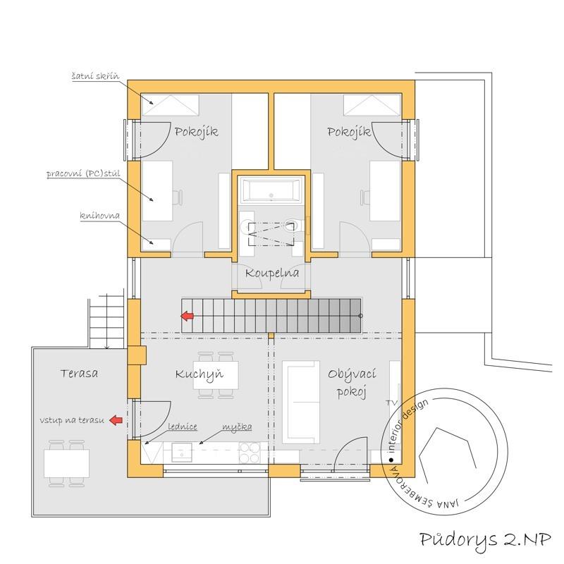studie_rodinného_domu_-_půdorys_2np