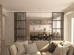 návrh obývací části 01